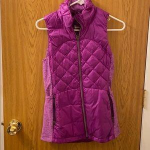 Lululemon puffer vest size 4 purple